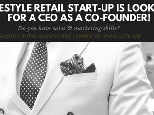 Kliv in som VD och bli delägare i en start-up.