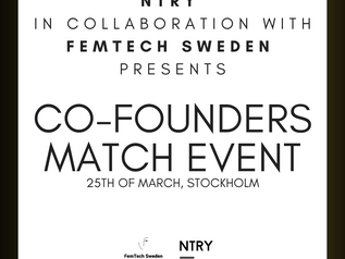 Co-founders match Event in collaboration with FemTech Sweden!