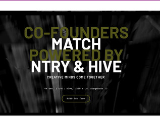 Welcome to a co-founders match event!