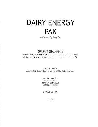 Dairy Energy Pak