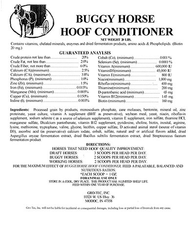 Buggy Horse Hoof Conditioner