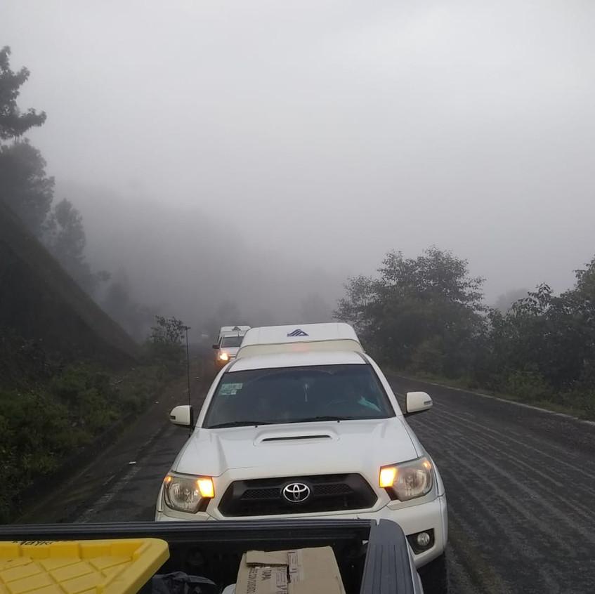 neblina del amanecer