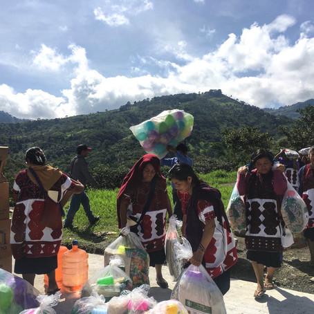 Acción con familias desplazadas en Chalchihuitán