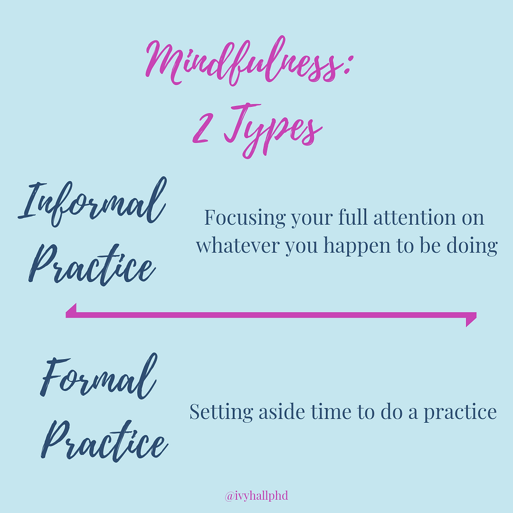 Informal vs Formal Mindfulness Practice