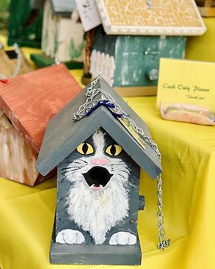 for the birds cat decorated birdhouse.jpg