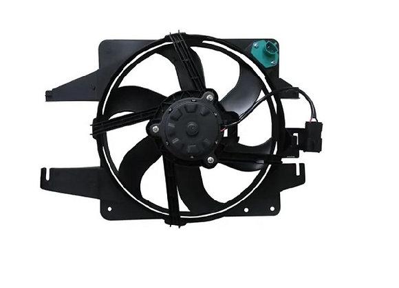 Eletro ventilador ventoinha com defletor radiador ford fiesta street com ar