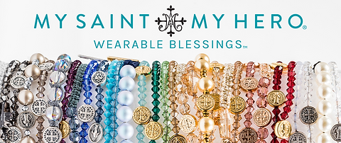 My Saint My Hero creates Wearable Blessings that bring faith, hope, and purpose into everyday life & empowers global communities. The company was founded on the belief that God is real, prayer works, love heals, and miracles happen.