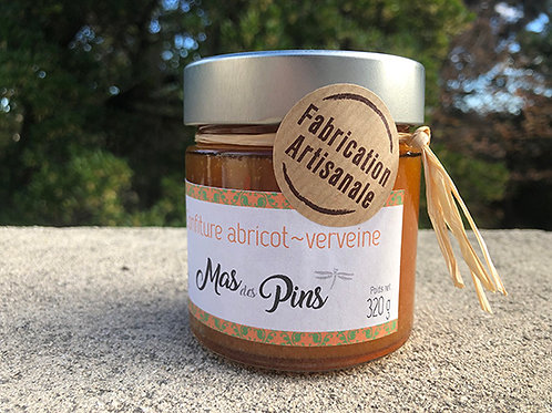 Confiture extra d'abricot-verveine