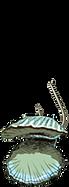 Clam auf einem Haken