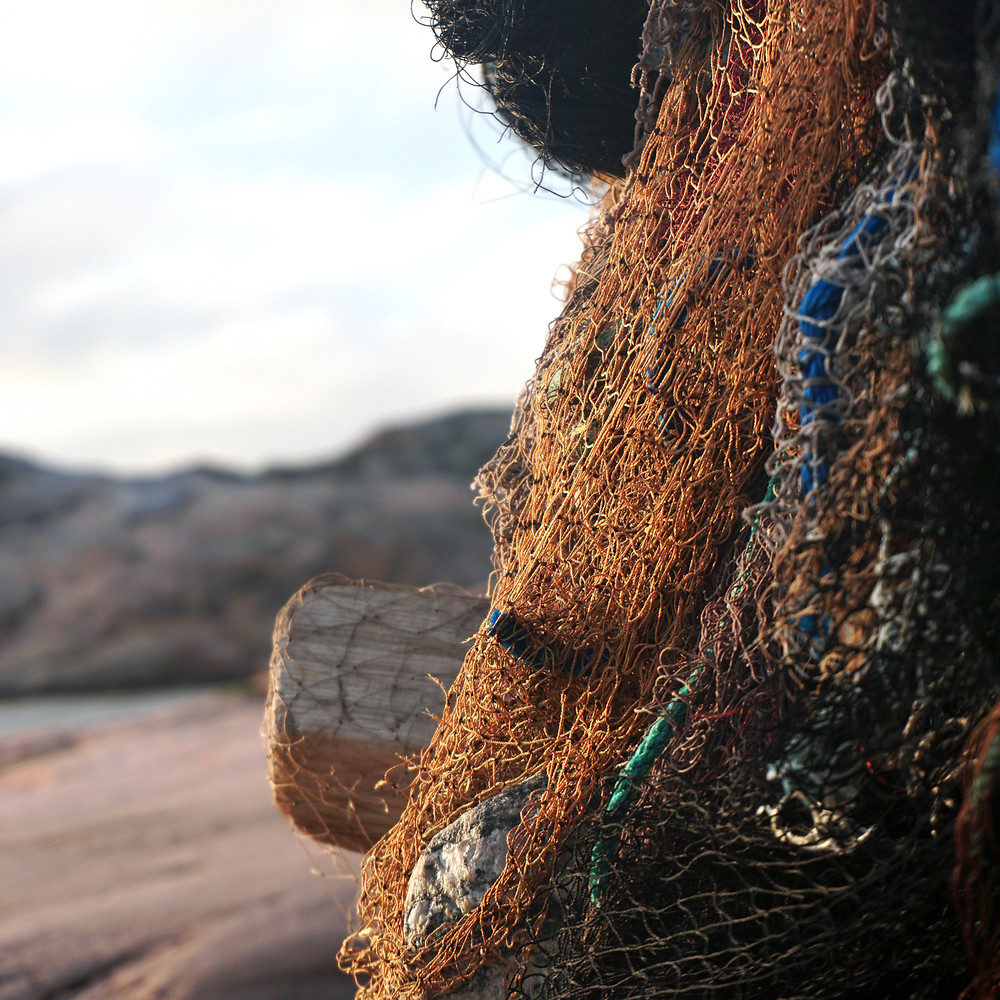 fishing nets on beach - ECONYL