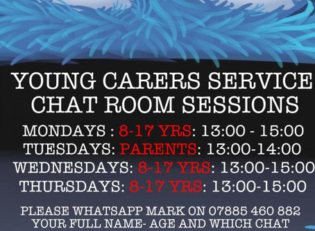 Young Carers GROUP CHAT SESSIONS