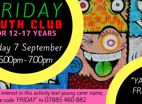 7/9/18 - YOUTH CLUB - 12-18 YEAR OLDS