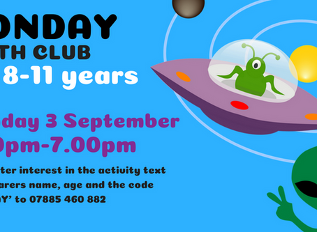 3/9/18 - YOUTH CLUB - 8-11 YEAR OLDS