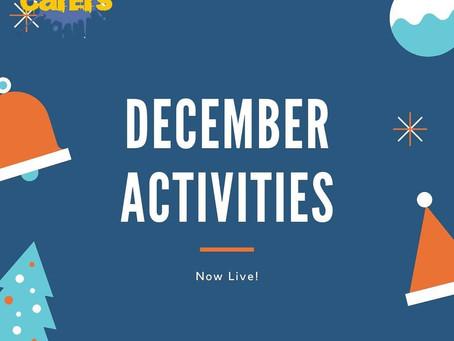 December Activities Now Live