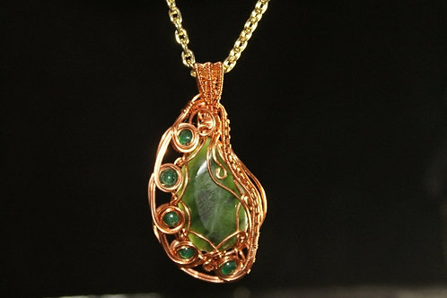 WOW Jade Wire Wrapped Pendant