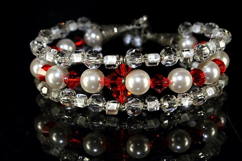 Swarovski And Asfour Crystal Wire woven Bracelet