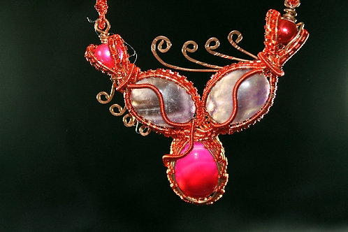 Handmade Copper Wire Wrapped Necklace