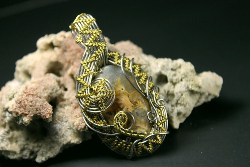 Wow Look At This Plume Agate Pendent