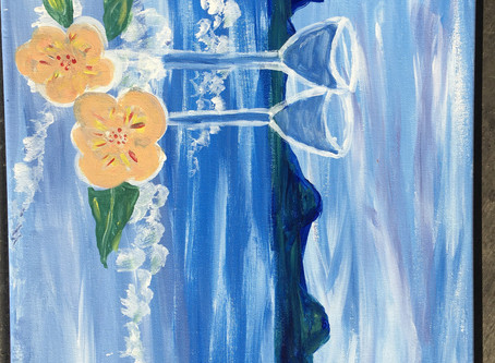 """Paint Nite:  """"Art [like travel] enables us to find ourselves and lose ourselves at the same time."""""""
