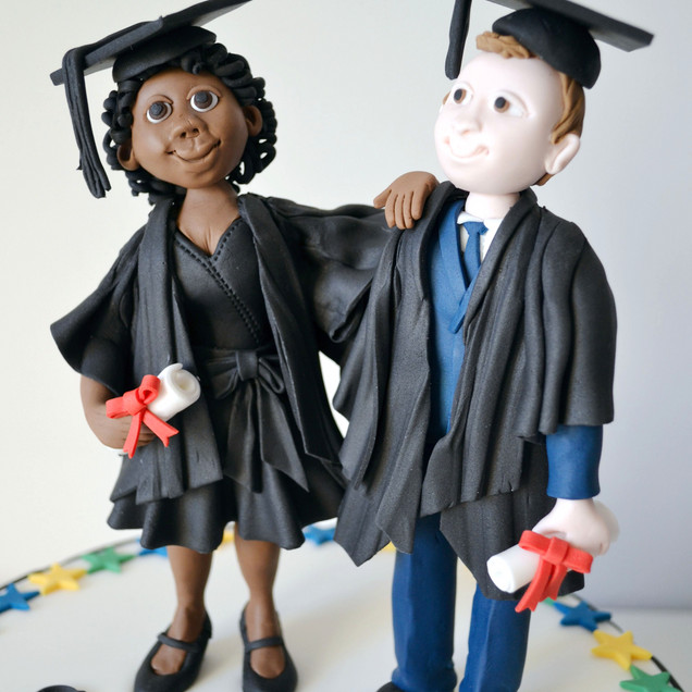 graduation figure cake toppers