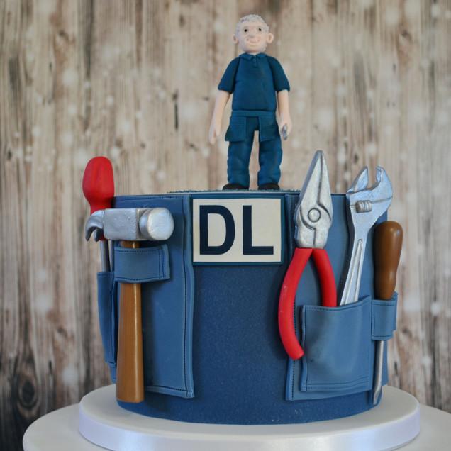 handyman retirement cake