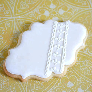 ivory plaque iced biscuit