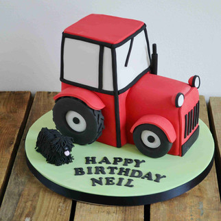 3D tractor cake