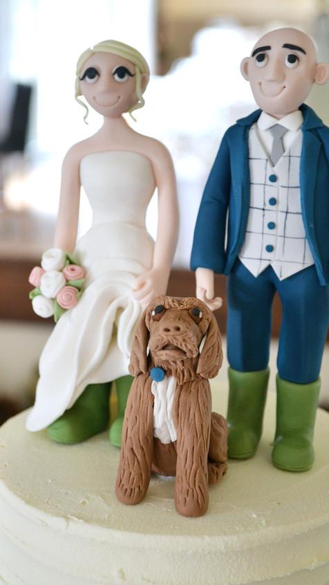 bride & groom personalised cake toppers