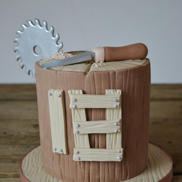 woodwork theme cake