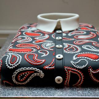 paisley folded shirt cake