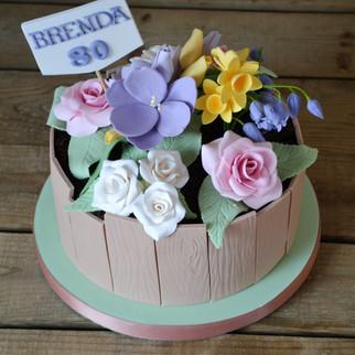 flower bed birthday cake