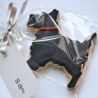 scottie dog iced biscuit wedding favour
