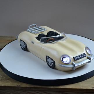 Jaguar sports car cake