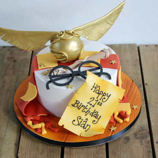 Harry Potter Golden Snitch cake