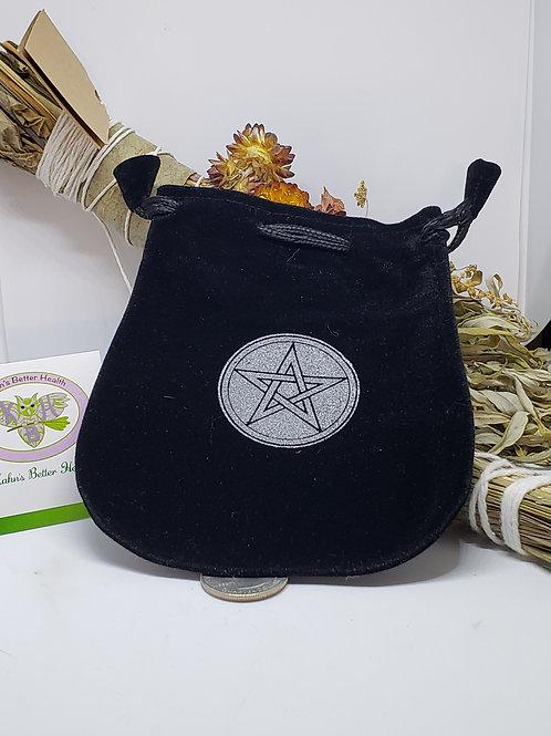 Pentagram Velveteen Black Bag, $6