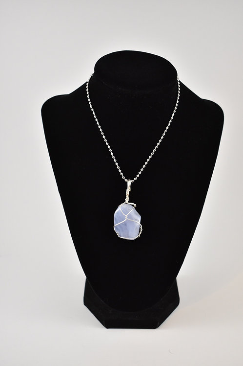 Blue Lace Agate Charm