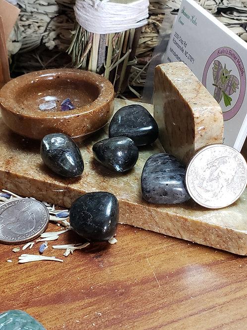 Larvikite, Small Tumbled