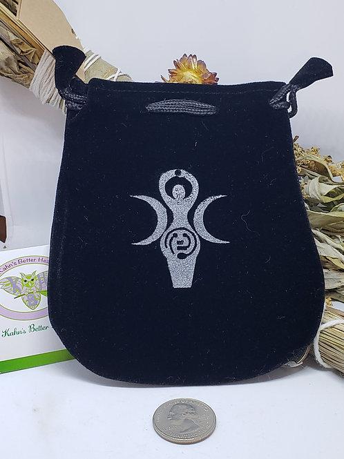 Goddess Velveteen Black Bag, $6