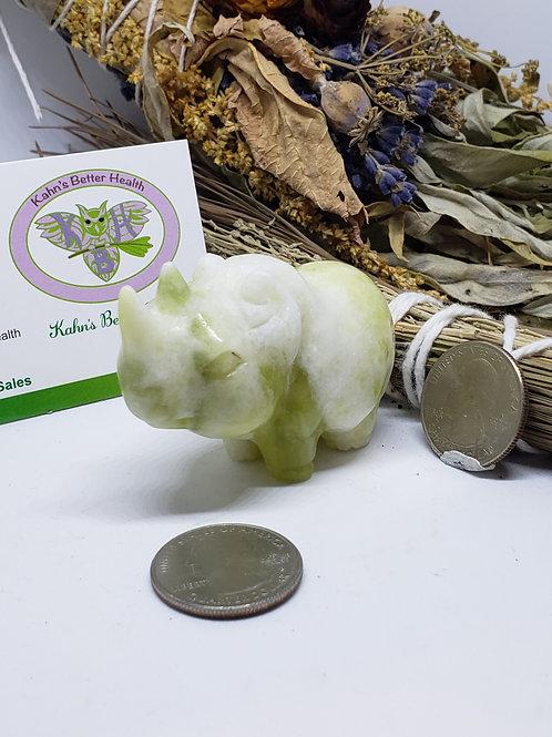 Serpentine Jade Rhinoceros, $35