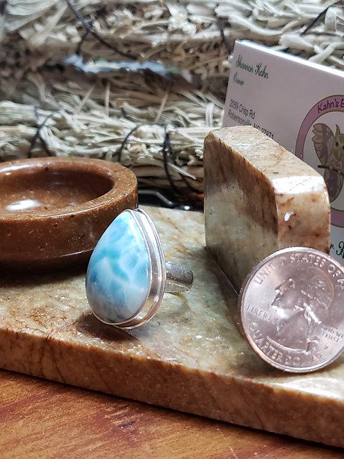 Larimar ring, size 6.5