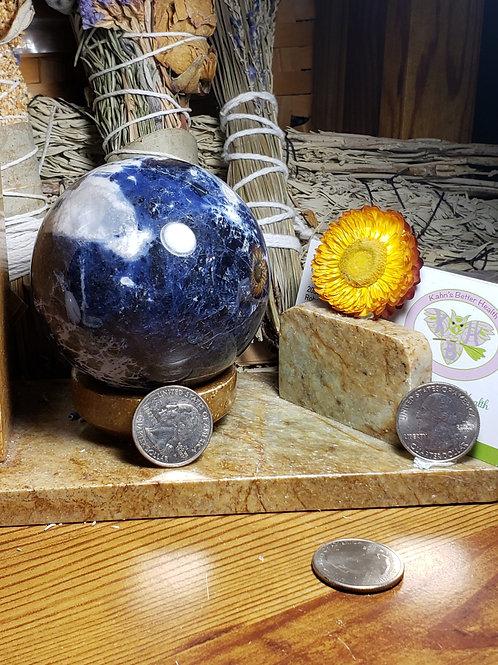 73mm Sodalite Sphere, $43