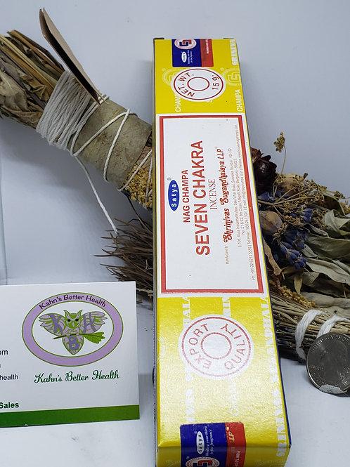 Seven Chakra Incense Sticks, $4.50