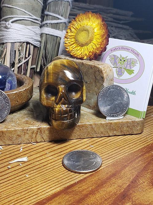 Tiger Eye Skull, $20