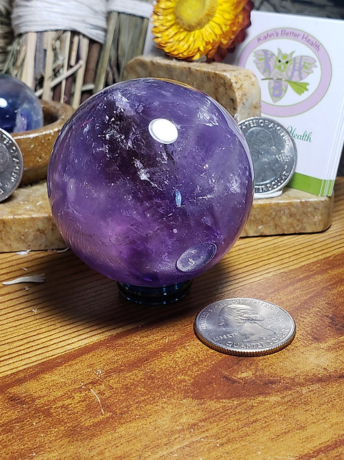 52 mm Ametrine Sphere, $54