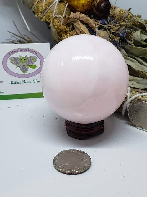 Mangano Pink Calcite Sphere