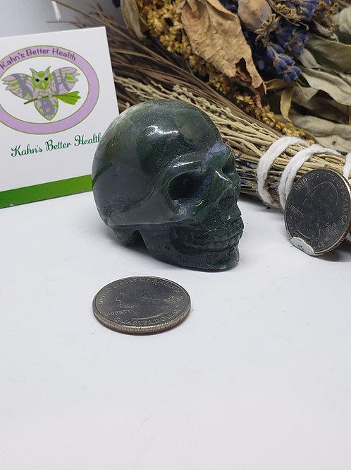 Moss Agate Skull, $20