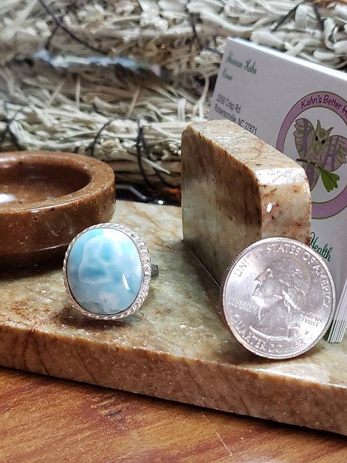 Larimar Ring,Size 8