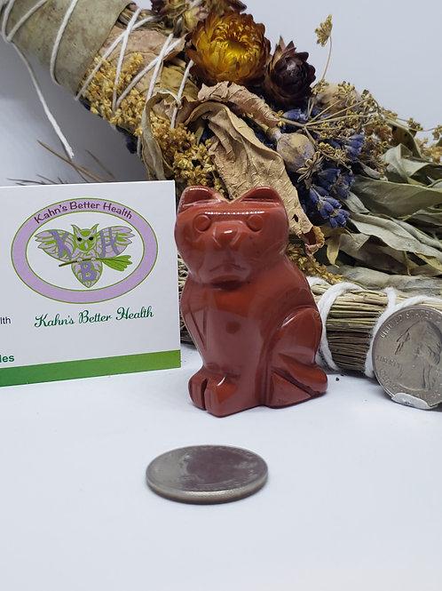 Red Jasper Cat, $16