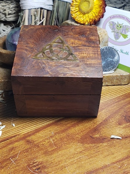 "2.5"" by 2"" Wooden Box"
