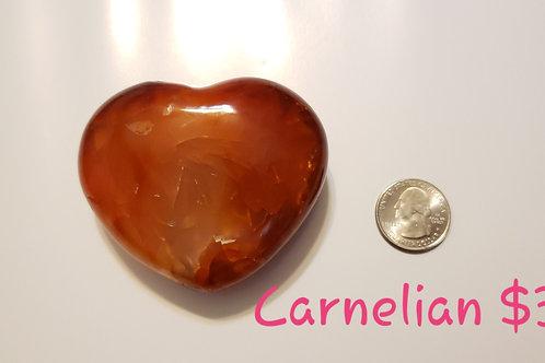 79 mm Carnelian Heart